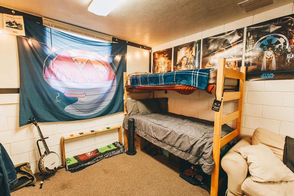 detachable bunk beds inside snowbarger dorm
