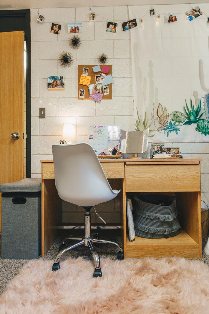 Desk inside Bracken Hall