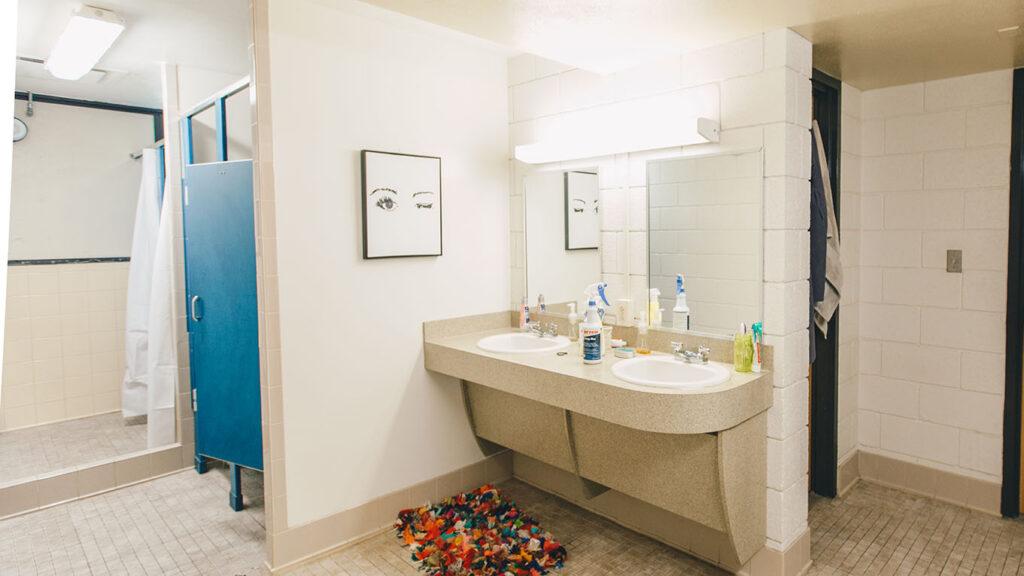 Sink Vanity inside Bracken Hall